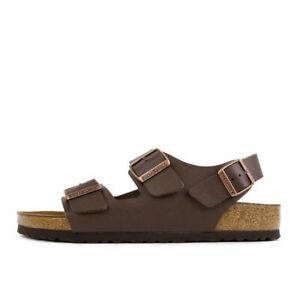 Birkenstock Milano BF Dunkelbraun Herren Schuhe Sandalen Pantoletten Dark Brown
