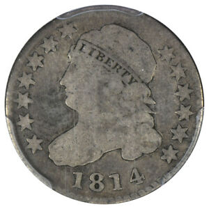 1814 10c Capped Bust Dime PCGS VG 8 STATESOF