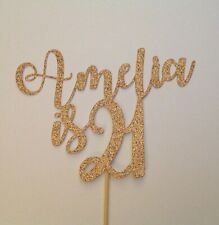 Personalised 21st Birthday Rose Gold Cake Topper 16th 18th 21st 30th Any Age