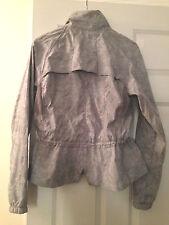 Lululemon Jacket Gray Light Floral Lace Pleated Peplum Ruffle Grey Size 8