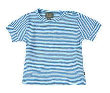 SALE Kidscase Baby Jungen Bio-T-Shirt NP 18,50€ Kurzarm Ringel blau 62 68 74