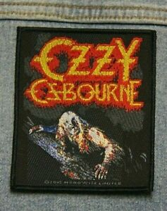 Ozzy Ozbourne  Bark at the moon sew  on patch Official merchandise metal music