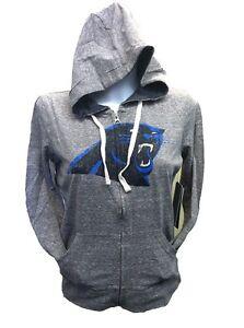 Touch by Alyssa Milano Carolina Panthers Women's Full Zip Hoody Sweatshirt