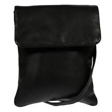 Damen echt Leder Handtasche Schultertasche Tasche Umhängetasche Bag Schwarz Neu