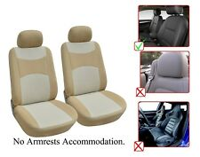 2 Front Bucket Fabric Car Seat Cover Compatible For Honda - M1410 Tan