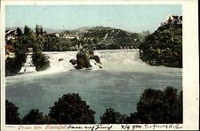 Rheinfall Schweiz Suisse Schaffhausen ~1900 Weltpostverein Wasserfall River Fall