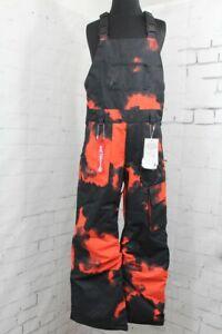 Volcom Barkley Bib Overall Snow Pants, Youth Large (12Y), Magma Smoke New