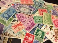 60 MNH Different US Stamps from 1930's to 70's each lot will have WW2 era stamps
