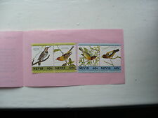 4 stamps from Nevis Showing Birds
