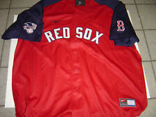 NEW MENS NIKE RED SOX RED-NAVY BASEBALL JERSEY SIZE XL