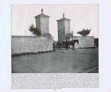 Old City Gate-Saint Augustine - Florida-1894 Lithograph