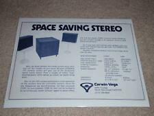 Cerwin Vega 320MT Sub/Sat Ad,1974,Specs, Article