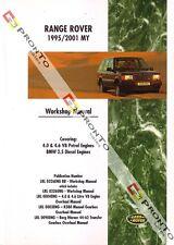 FACTORY WORKSHOP REPAIR MANUAL BOOK LAND RANGE ROVER MY 1995-2001