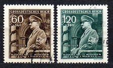 Germany / Bohmen und Mahren - 1944 Birthday Hitler Mi. 136-37 FU