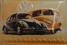 DER VOLKSWAGEN AOTO KLASSIKER  BLECHSCHILD 20 x 30 CM (BS 256)