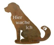 Hunde motiv gartenfiguren skulpturen aus metall g nstig for Verrostete gartendeko