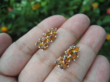 NATURAL Golden Orange CITRINE STERLING 925 SILVER EARRINGS