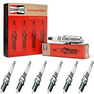 6 Champion Platinum Spark Plugs Set for CADILLAC SRX 2012-2016 V6-3.6L
