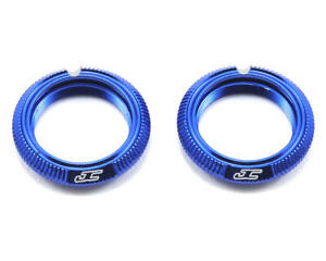 JConcepts Fin Aluminum 12mm Shock Collar (Blue) (2) [JCO2491-1]