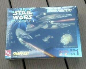 AMT ERTL Star Wars Episode 1 Droid Fighters Model kit Snapfast 1:48 scale