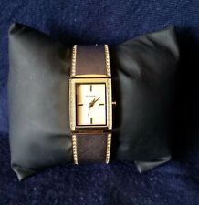 DKNY Goldtone Half Bangle Womens Watch