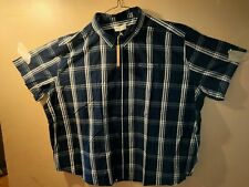 AUTHENTIC BADRHINO 6XL MENS CASUAL SHORT SLEEVE  CHECK  SHIRT new with tags