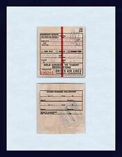 AVIATION UNITED AIRLINES PASSENGER RECEIPT $138 OAKLAND TO NEW YORK  1944