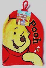 Disney Winnie The Pooh Children's Wash Mitt Flannel Bath Red 100 Cotton