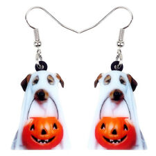 Acrylic Halloween Pumpkin Ghost Dog Earrings Drop Novelty Jewelry For Women Gift