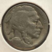 USA 1924 S Buffalo Nickel 5 Cent San Francisco Gute Erhaltung Selten #11119
