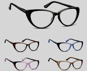 Montana CAT EYE Lesebrille Damen Flex Kunststoff Brille Vollrand Stylisch Aktion
