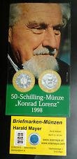 50 Schilling Konrad Lorenz Bimetall 1998 HGH Blister -- Eiamaya