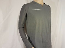 Under Armour Mens T shirt UA Threadborne pitch long sleeve gray NWT fitted Large