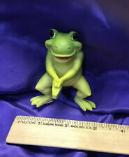 Standing Frog Resin Figurine Incense Holder Holds One Stick Free Shipping