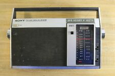 Vtg 1960s Sony Solid State Portable Transistor Radio FM/AM 7F-81W -Japan