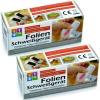 2x Folienschweißgerät Beutel Tüten-Verschweißer Vakuumiergerät Hand-Schweißgerät