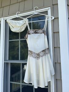 Vintage Undercover Wear Nylon Babydoll Nightgown w/panties Made in USA small new
