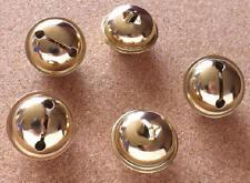 5 x Large 34mm Brass Plated Hawk Bells - Decorative Craft Use