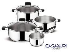 Lagostina Batterie des pots Tempra 6 Pcs acier inoxydable Ustensiles de cuisine