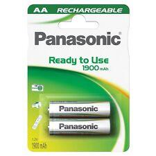 2x Panasonic Pronto all'Uso Ricaricabile Mignon AA BATTERIA hr6 1900 mAh NI-MH