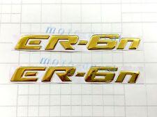 Raised 3D Chrome Kawasaki ER-6n er-6n Emblem Gold Decal Fairing Sticker Bling
