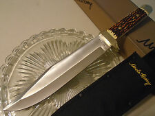 """Schrade Uncle Henry Stagalon Delrin Hunter Bowie Knife Full Tang 184UH 15.2"""" OA"""