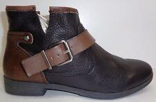 BCBG BCBGeneration Size 8 M ROUGH Black Oak Leather Ankle Boots New Womens Shoes