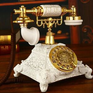 Europe Vintage Fixed Telephone Revolve Rotate Dial Antique Landline Collectible