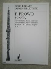 Sonata in A for Oboe & piano (with Cello part) by P. Prowo *NEW*  Schott OBB36