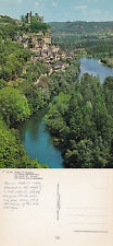 1980's AERIAL VIEW OF BEYNAC DORDOGNE FRANCE UNPOSTED COLOUR POSTCARD