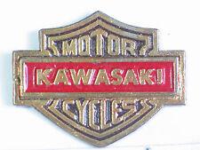 Vintage Kawasaki Shield Motorcycle Pin Badge  (b)