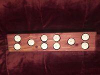 Aromatic Cedar Candle Holder w/Candles & Free Cedar Chip Sachet