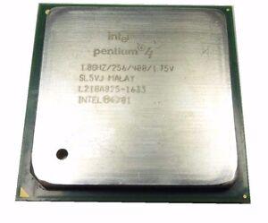 Processore socket 478 Pentium 4 1.8  / 256 kb cache  / 400 Mhz Bus SL5VJ PPGA478