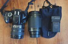 Nikon D5200 Digital Slr Camera w 2 lenses nikkor 70-300 zoom and 18-70 w battery